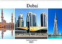 Dubai - Stadt der Superlative (Wandkalender 2022 DIN A2 quer): Die Wuestenstadt Dubai beeindruckt immer wieder durch neue imposante und prunkvolle Superlativen. (Monatskalender, 14 Seiten )