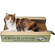 The Original Scratch Lounge - Worlds Best Cat Scratcher - Includes Catnip