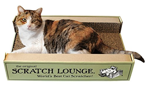 The Original Scratch Lounge - Worlds Best Cat Scratcher - Includes Catnip