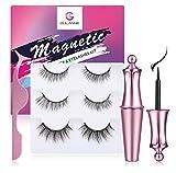 GULANNE Magnetic Eyelashes with Eyeliner, Reusable Magnetic False Eyelashes and magnetic lashes