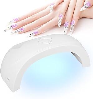 Lámpara de secado de uñas con luz UV Lámpara de curado para esmaltes de uñas y uñas Esmaltes, Mini lámpara de uñas UVLED Máquina de secado de uñas para esmalte de gel de uñas Herramientas de arte de u