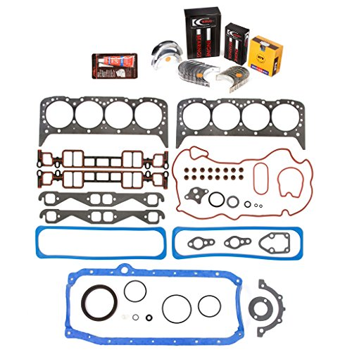 Evergreen Engine Rering Kit FSBRR8-10116 Compatible With 96-02 Cadillac Chevrolet GMC VORTEC 5.7 OHV VIN R Full Gasket Set, Standard Size Main Rod Bearings, Standard Size Piston Rings