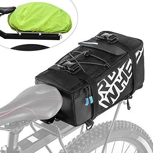 Lixa-da Radtasche, Gepäckträger Tasche Multifunktionale mit Regenschutz, Fahrrad Gepäckträgertaschen Sitz Tasche Trunk Bag, Rucksack, Handtasche, Total 5L, 32,5 x 16 x 18cm