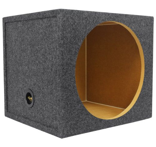 Rockville RGS15 Single 15 Inches Sealed Car Sub Enclosure Box 2.03 Cu Ft, 3/4 Inches MDF
