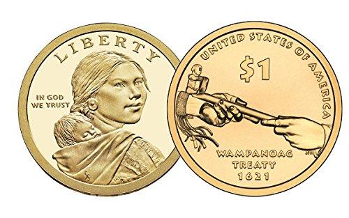 2011 P, D Native American (Sacagawea/Golden) Dollar 2 Coin Set Uncirculated
