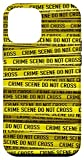 iPhone 12 mini Police Crime Scene Tape Abstract Yellow Forensics Pattern Case