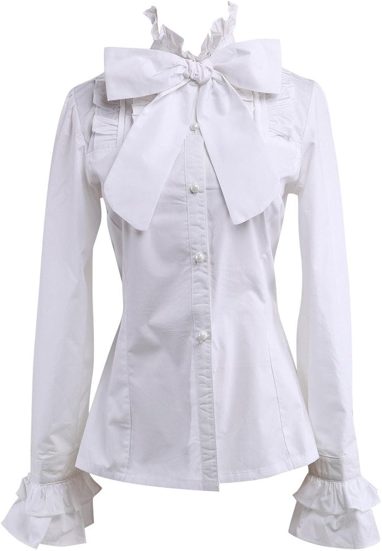 Hugme White Cotton Lolita Blouse