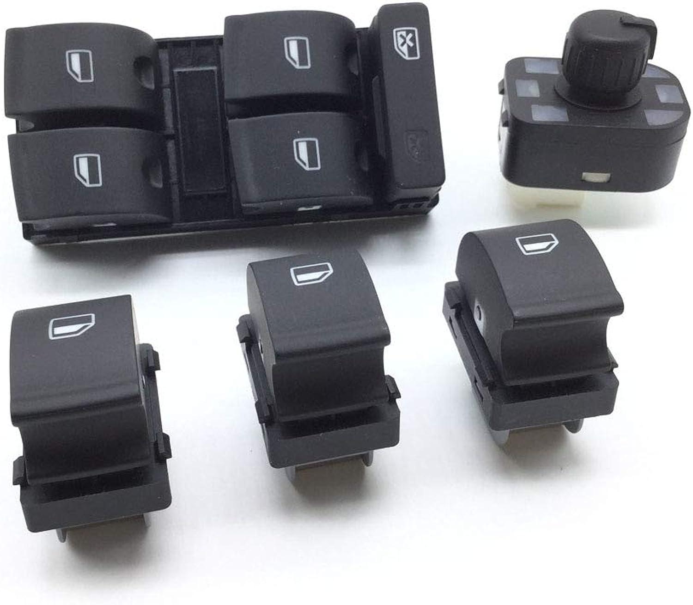 Cocas 8E0959565A Power Electric Master Window Mirror Control Switch 8E0959855B for Audi A4 S4 B6 B7 RS4 SEAT Exeo 8E0959851 8E0959855