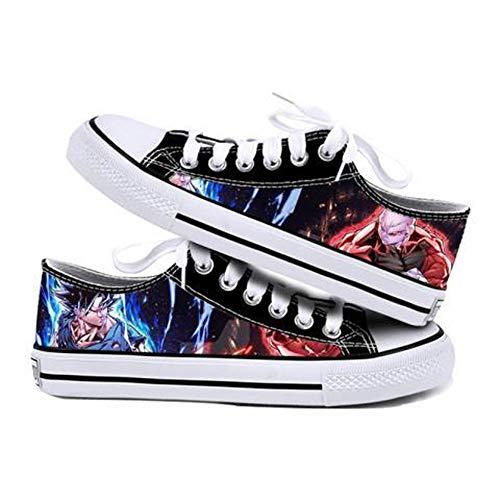 WOONN Zapatos Hombre Alpargatas Sneakers Hombre Deportivas Zapatillas Mujer Unisex Zapatos Lona Casuales Bambas Anime Shoes Dragon Ball Goku,41