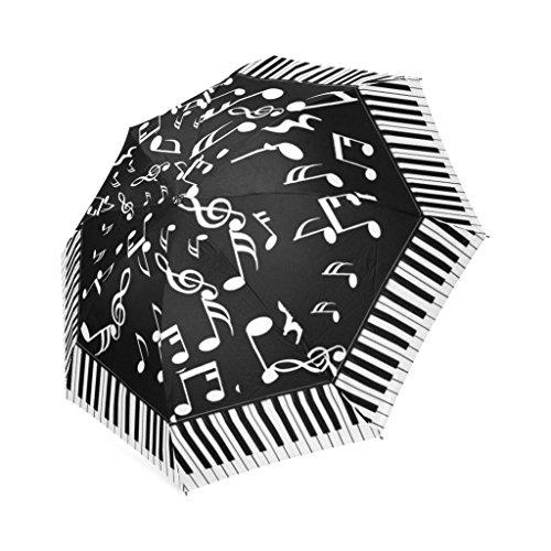 EnnE Regenschirm Piano Tastatur Regenschirm Faltbar Kompakte Reise Regenschirm Regen Regenschirme 8Rippen UV-Schutz