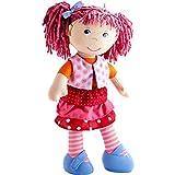 HABA 302842 - Puppe Lilli-Lou, süße Weich- und Stoffpuppe ab 18 Monaten, mit Kleidung und Haaren,...