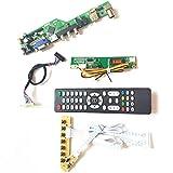 Para LP154WX4-TLD4/TLE1 T.V53 tarjeta de unidad teclado+control remoto+inversor panel LCD monitor HDMI VGA USB AV RF LVDS 1CCFL 30Pin Kit (LP154WX4-TLE1)