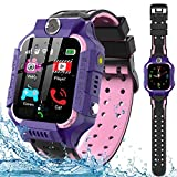 Kids Smart Watch for Boys Girls - IP67 Waterproof Smart Watch Phone with Music Player Video Calls Recorder Camera Gizmos Games Alarm 12/24 Hr Kids Toddler Smartwatch Birthday Gifts (Purple)