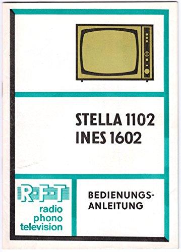 Bedienungsanleitung Fernseher Stella 1102 / Ines 1602