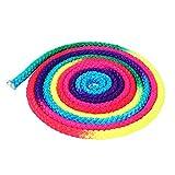 Cuerda de Saltar Ejercicio y Fitness aeróbico–Cuerda de Saltar Cuerda de artes de gimnasia rítmica de gimnasia entrenamiento deportivo cuerda Rainbow Color