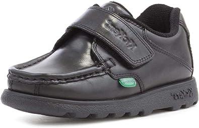 Kickers Fragma Boys Leather Black Shoe