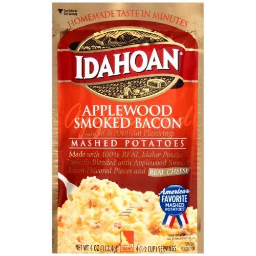 Idahoan, Mashed Potatoes, Applewood Smoked Bacon (Pack of 2)