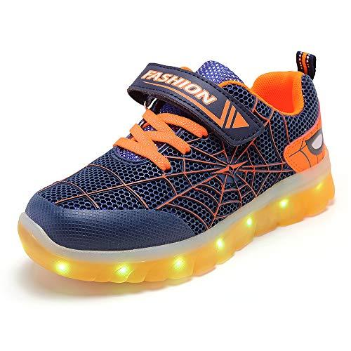 scarpe illuminate Unisex Bambini Uomo Ragno LED Light-up Scarpe