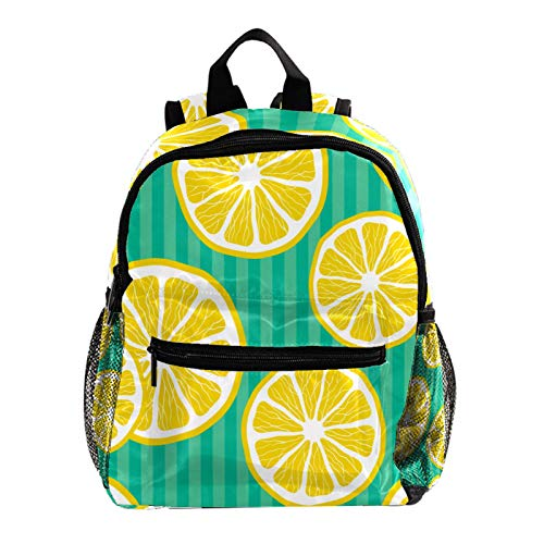 Indimization Mini borsa da scuola Fruit Lemon Stripe Zaini...