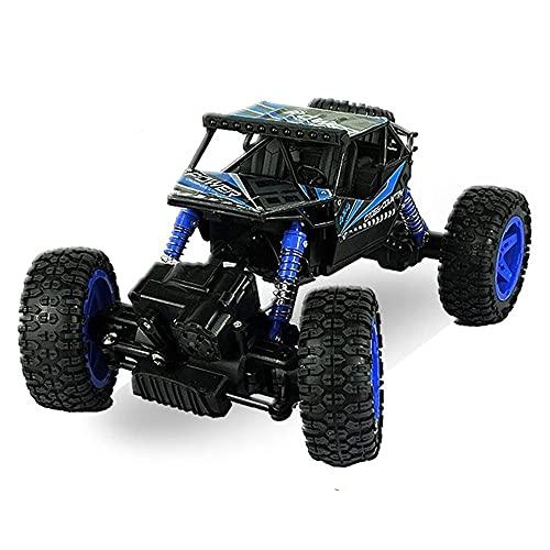 ADSVMEL 4WD 2Motor Alta Velocidad 2.4Ghz Radio Control Remoto Coche Multi-Terrain Off-Road Car Desert Racing Crawler Truggy Bigfoot Monster Truck Niños Niñas Niños Adultos RC Hobby Regalos