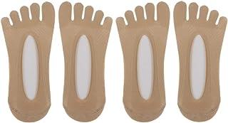 IPOTCH, 4x Calcetines de Dedos Mujer Hombre Calcetines Deportivos 5 Dedos Bajo Corte Calcetines Flip Flop Antideslizante