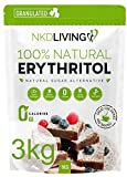 100% Natural Erythritol 3 Kg - Zero Calories Sugar Replacement - (3 x 1kg) …