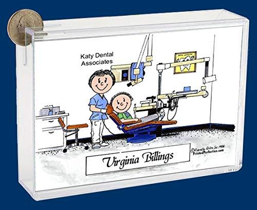 Personalized Friendly Folks Cartoon Caricature Bank: Dental Hygienist – Female