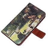 Tissot - In The Sun, Embossed Marrón Carcasa Funda de Piel Cuero Leather Flip Magnética Stand Case Caso, Diseño con Textura en Relieve para Samsung S5 i9600.