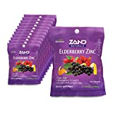 Zand Immunity Elderberry Zinc HerbaLozenge | Immune Support Throat Drops | No Cane Sugar or Corn Syrup (12 Bags, 15 Lozenges)