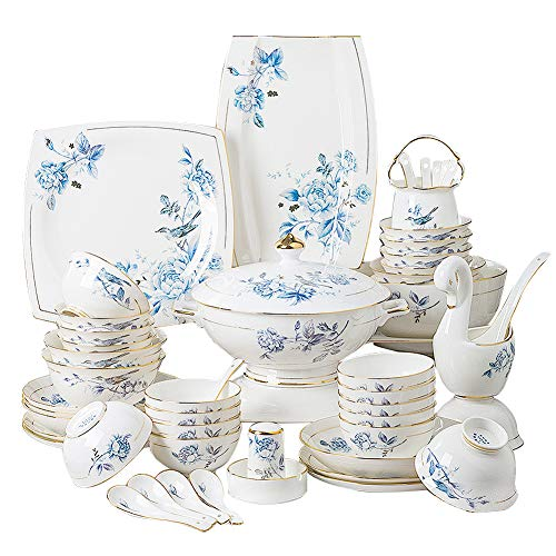 Dinnerware Set, Line Drawing Decoration Bone China Tableware...