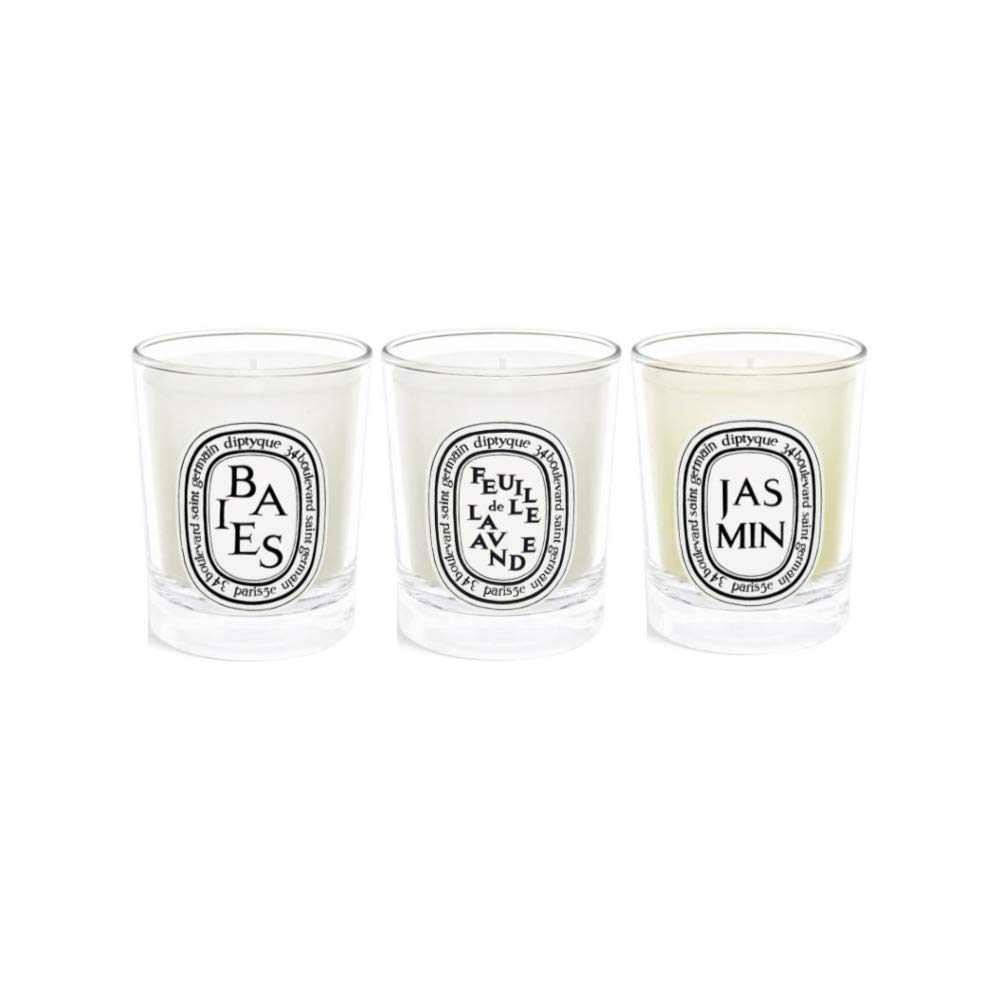 Diptyque Mini Scented Candles Trio Bundle   200 x 20.20oz Berries, Lavender  Leaf, and Jasmine 200 Items
