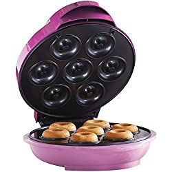 Image: Brentwood TS-250 Mini Donut Maker Machine, Non-Stick, Pink