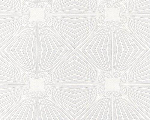 Como Creation expandirse en vinilo autoadhesivo para pared techo papel pintado blanco 6639-17