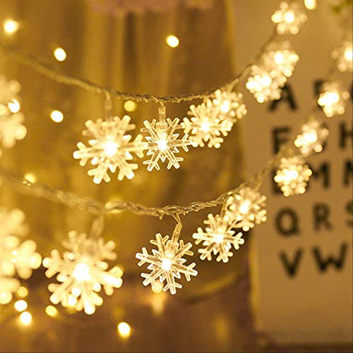 WARRT Arbol de Navidad Mini Guirnalda Led Luz Árbol De Navidad Ornamentos Decoración De Navidad para El Hogar Navidad Año Nuevo Copo de Nieve de 3m 20led