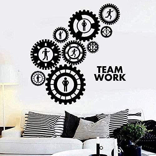 wwhhh pegatina de pared calcomanía equipo equipo equipo decoración del hogar sofá fondo papel tapiz 57X61 cm