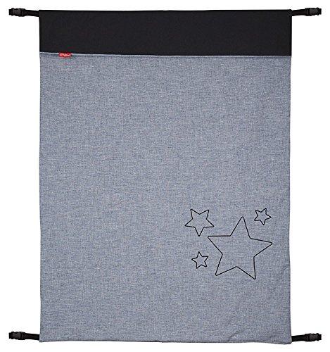 ByBoom - Baby Softshell Decke 70x100 cm Frühling, Sommer, Herbst - Thermo Aktiv für Kinderwagen, Buggy, Jogger, Farbe:Grau Melange/Anthrazit