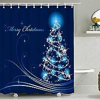 クリスマスクリスマス防水浴室カーテン、デジタル印刷タペストリー壁の装飾、大きさとパターンをカスタマイズすることができます(180 X 180センチ) 16