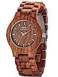 AMEXI orologi di legno di sandalo uomo noce orologi al quarzo guarda gli uomin