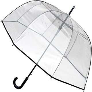COLLAR AND CUFFS LONDON - Rare Automatic - Windproof Extra Strong - StormDefender - Fiberglass - Clear Dome Umbrella