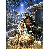 zachking 5d Diy Diamond Painting El Nacimiento De Jesús Full Squareround Diamante Bordado Animal Paisaje Decoración Del Hogar Mosaico Regalo De Navidad 40x60cm NoFramed