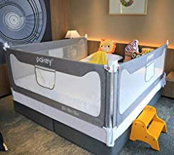 Goldenvalueable Bed Rail Guard 3 Set Vertical Collapsible for Baby Toddlers and Kids (Grey, King)