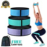 Exercise Bands Resistance Bands for Legs and Butt, Anti Slip Elastic Booty Bands...