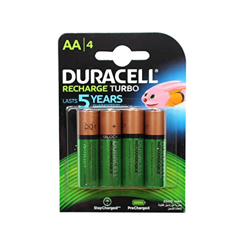 Duracell - Pile Rechargeable - AA x 4 - 2500 mAh (LR6)