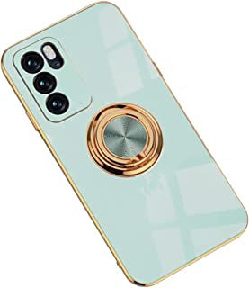 Hicaseer Case for Oppo Reno6 Pro 5G,Ultra-Thin Ring Shockproof Flexible TPU Phone Case with Magnetic Car Mount Resist Dura...