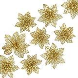 Naler 24 Flores Artificiales Decorativas Navidad Poinsettia