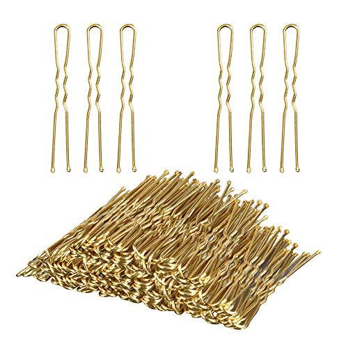 Pinzas para el pelo en forma de U, horquillas para el pelo TsMADDTs con caja, paquete de 100 (6 cm)