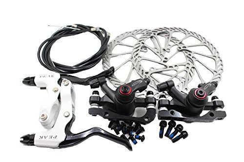 Mountain Disc Brake Kit InsReve NV-5 G3 Disc Brake Sets Front and Rear 160mm Caliper Rotor BB5 BB7 BB-5 BB-7, with Handle, Black