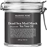 MAJESTIC PURE Dead Sea Mud Mask Infused With Tea Tree Oil - Supports Acne Prone and Oily Skin, for...