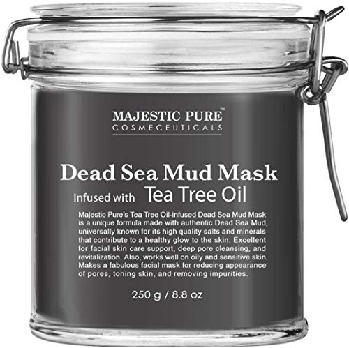 Product Image of the MAJESTIC PURE Dead Sea Mud Mask Infused With Tea Tree Oil - Supports Acne Prone...