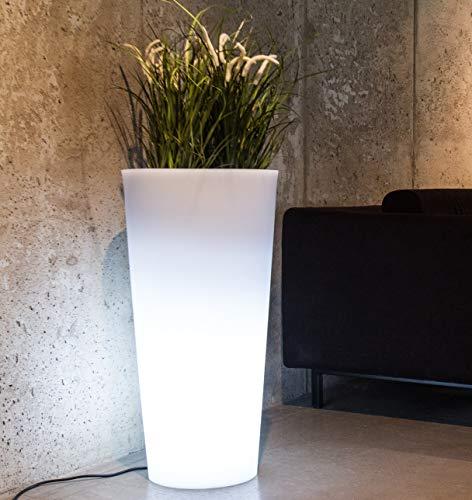 LED Blumentopf Habana Indoor / Outdoor XXL - Pflanzentopf mit Beleuchtung ideal für Pflanzen Innen und Außen – Blumenkübel - Pflanzenkübel – Raumteiler oder Hochbeet